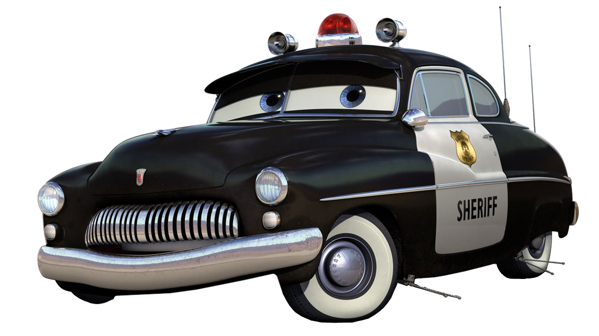 """Кто знает, а что за усики торчат из-под днища на автомобиле шерифа, в мультике  """"Тачки """".  То ли антенны, то ли сенсоры..."""