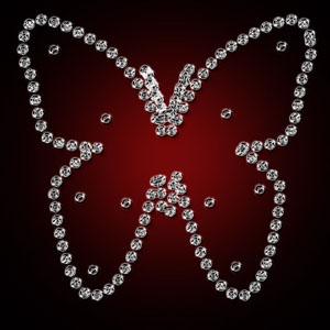 Бриллиантовая бабочка
